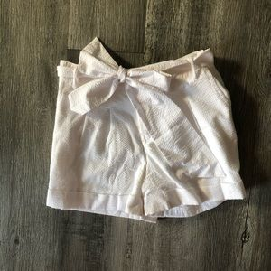 Lauren James White Seersucker Shorts